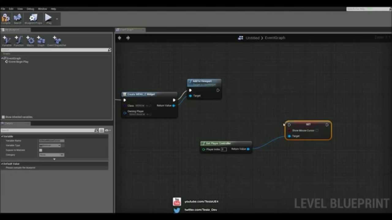 Unreal engine 4 tutorial umg basic menu youtube malvernweather Choice Image