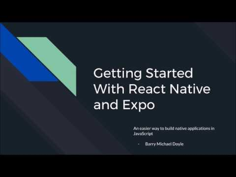 Getting started with React Native and Expo