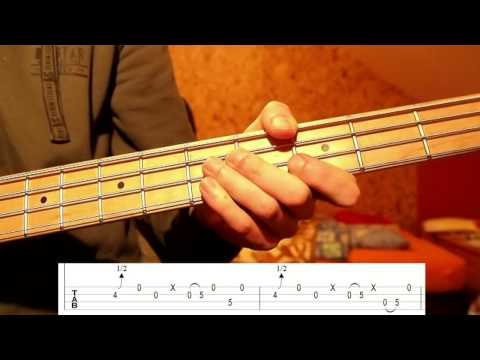 Primus - Lee Van Cleef (Bass Tutorial With TABS) On Homemade Bass