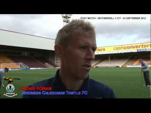 'Inverness - Richie Foran Post-match v Motherwell 02/09/2012'