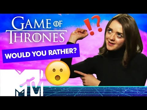 GAME OF THRONES CAST PLAY WOULD YOU RATHER? | MTV Movies