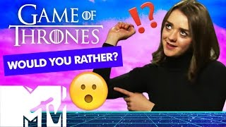 game of thrones cast play would you rather? mtv