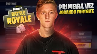 PRIMEIRA PARTIDA TFUE no FORTNITE (pró player)