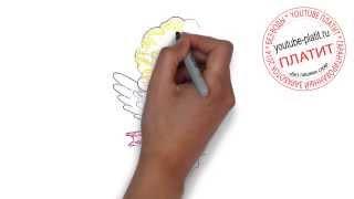 Рисуем поэтапно девушку ангела   Как легко нарисовать ангела карандашом(как нарисовать ангела, как нарисовать ангела поэтапно, как нарисовать ангела карандашом, как нарисовать..., 2014-07-31T03:49:19.000Z)