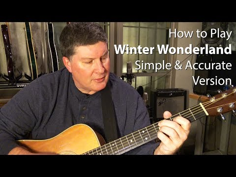 How To Play Winter Wonderland on Guitar