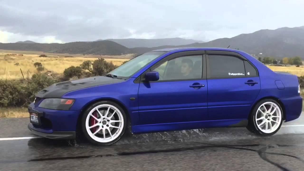 blue evo ix - Mitsubishi Evo 9 Blue
