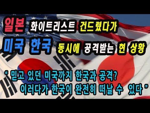 일본 화이트리스트 건드렸다가 미국 한국 양쪽에서 당하고 있는 상황/이러려고 경제보복 한 것 아닌데, 도쿄 올림픽도 보이콧 하려나 (5분 순삭)