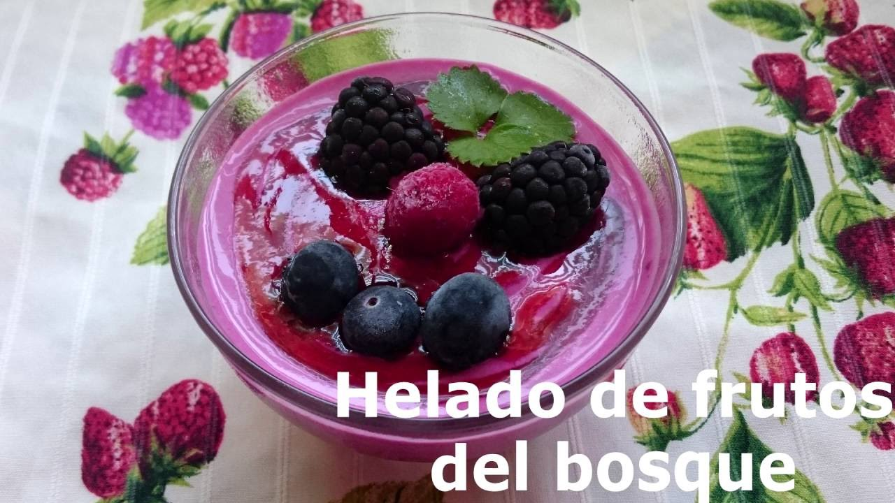 sorbete de frutos del bosque thermomix