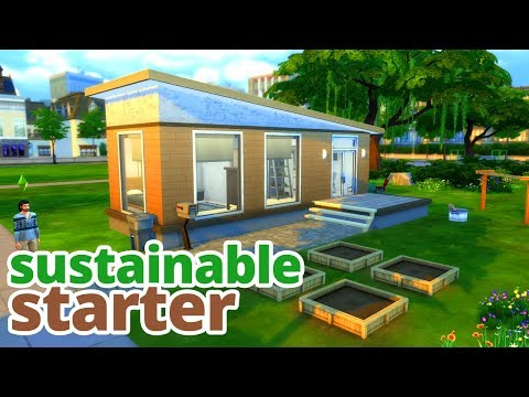 SUSTAINABLE STARTER | The Sims 4 Eco House Build