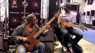 Mayones Guitars and Basses at Namm Show 2014 — Jamming