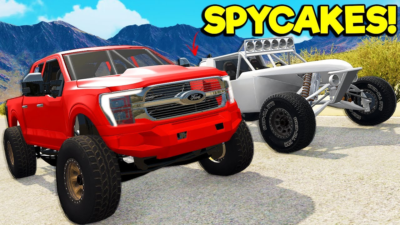 Download Spycakes & I UPGRADED Our FORD Trucks with OVERPOWERED Parts in BeamNG Drive Mods!