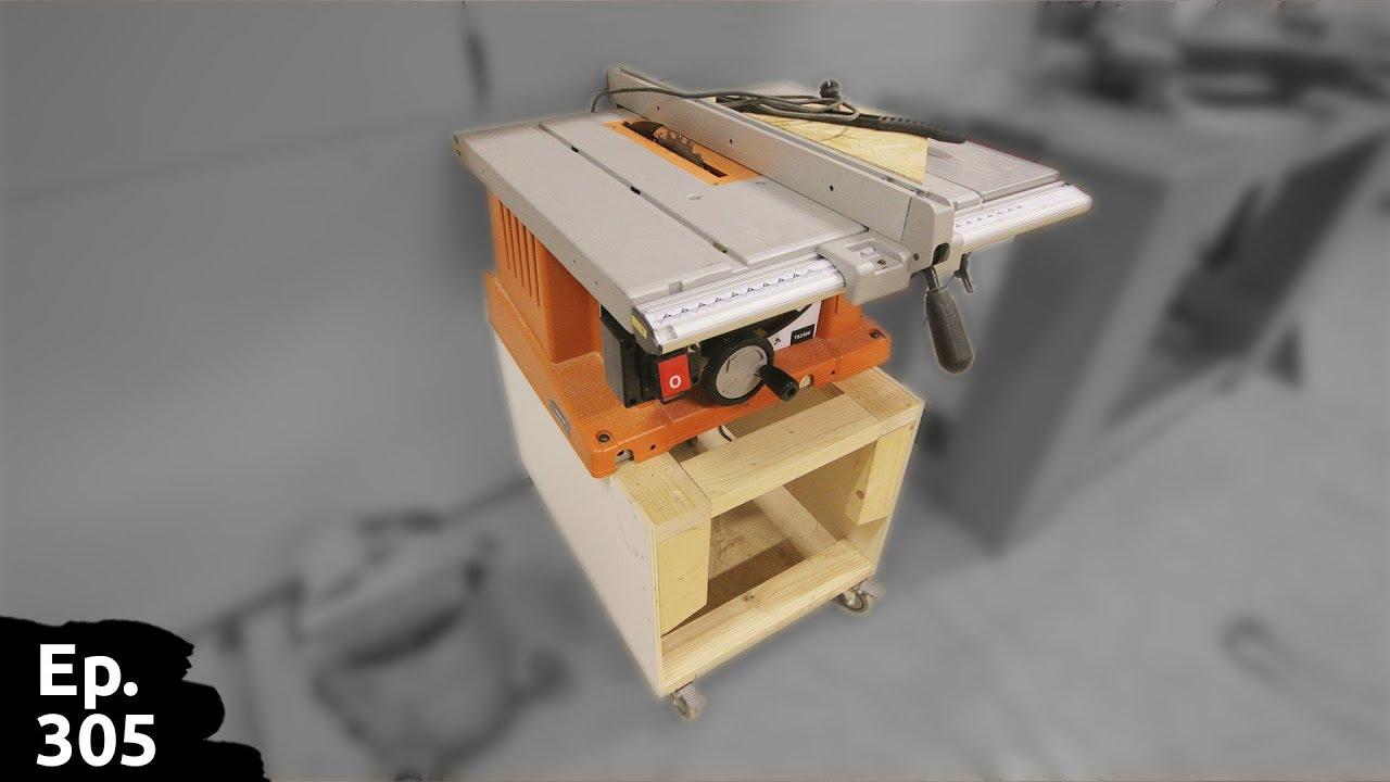 Mettre Des Roulettes Sous Une Table customisation / amélioration de ma scie sur table aeg pour la mettre sur  roulettes - ep305