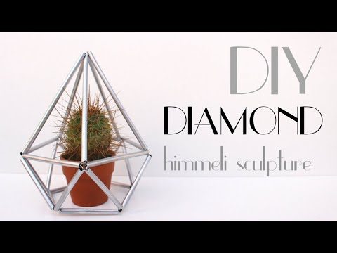 DIY - Diamond [Himmeli Geometric Sculpture]