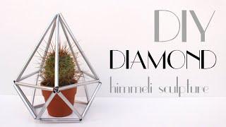 DIY - Diamond [Himmeli Geometric Sculpture]