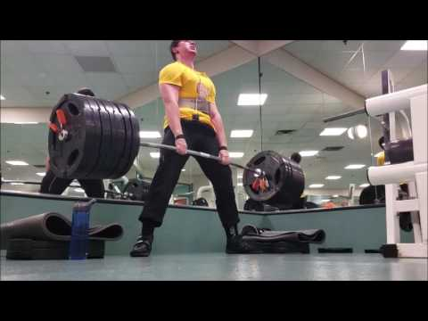 675x2 Block Pull PR 245x5 One Arm Barbell Row