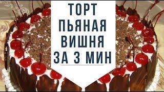 Торт пьяная вишня рецепт за 3 Минуты! как приготовить торт в домашних условиях быстро простой рецепт