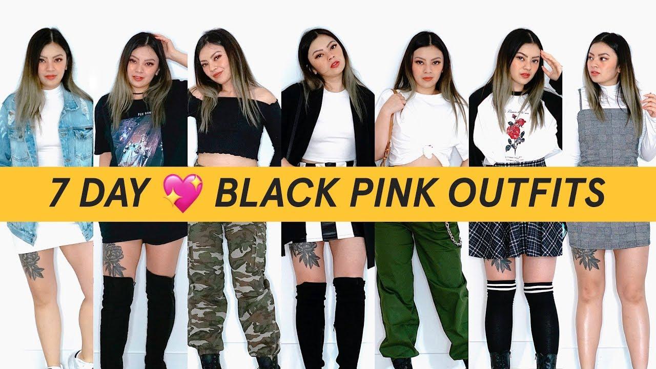Blackpink Outfit Ideas: I TRIED TO DRESS LIKE BLACKPINK FOR A WEEK BLACKPINK