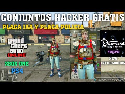 CONJUNTOS HACKER + PLACA IAA + PLACA POLICIA PARA MUJER GTA V ONLINE 1.46 MODO DIRECTOR XBOX ONE/PS4