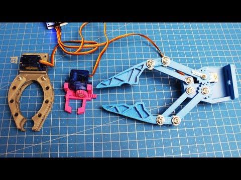 Самодельные клешни для роботов