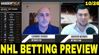 NHL Picks, Predictions and Odds | NHL Betting Preview | 🏒 Puck Time for October 26
