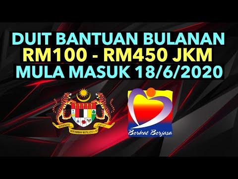 Duit Rm100 450 Bantuan Bulanan Jkm Mula Masuk 18 6 2020 Youtube