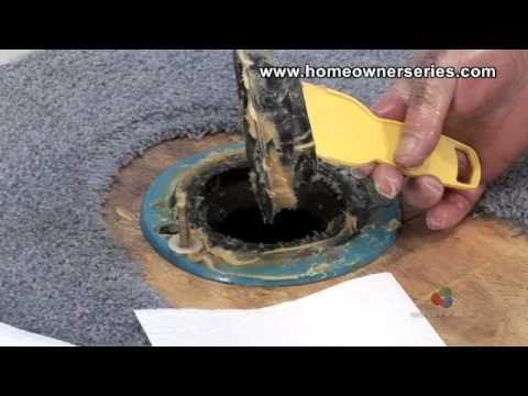 Toilet Flange Wax Ring Replacement Part 1 of 2 - YouTube