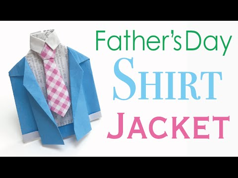 how to make a fathers day shirt card tie shirt jacket origami paper for happy s day 8210