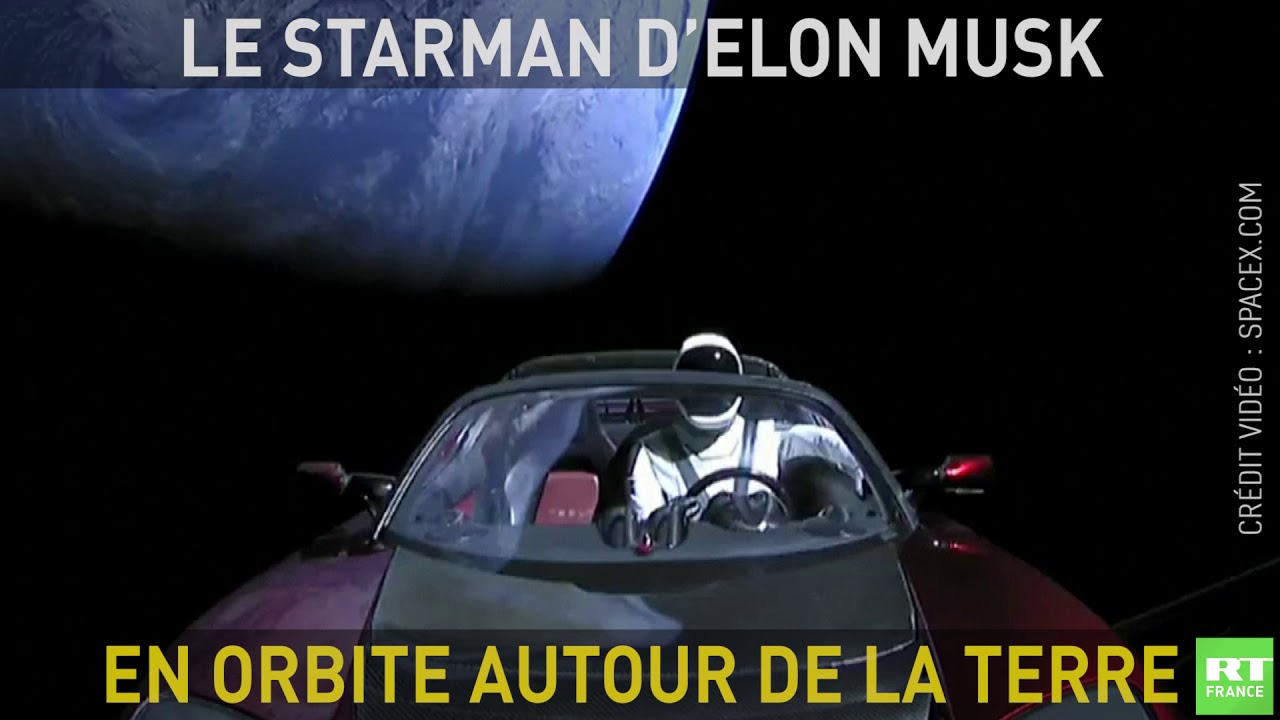le starman d 39 elon musk en orbite autour de la terre youtube. Black Bedroom Furniture Sets. Home Design Ideas