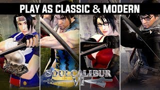 Character Creation Soul Calibur VI   How to Create Taki & Mitsurugi Classic & Modern Outfits