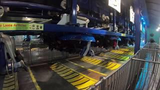 "GoPro Hero 7 Hypersmooth On""Manta"" Flying Coaster At Sea World Orlando Sunset POV"