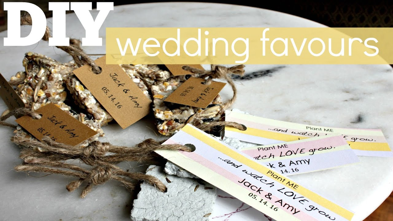 Diy Wedding Favours Seed Bombs Youtube