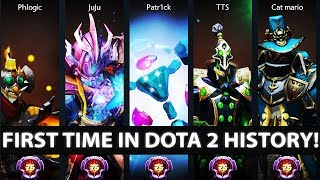 FIRST TIME IN DOTA 2 HISTORY - 5x LVL 25 Master Tier Players Stack on Battle Cup - EPIC Dota 2