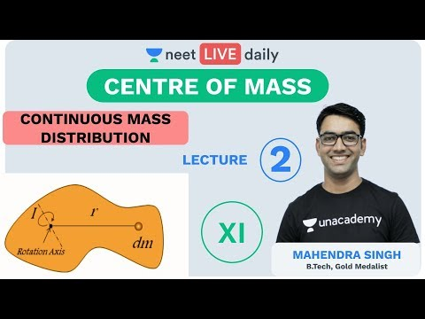 Centre of Mass   Lecture 2   Class 11   Unacademy NEET   LIVE DAILY   NEET Physics   Mahendra Sir
