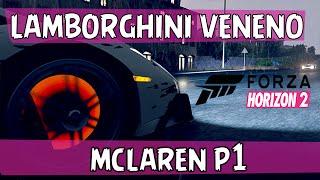 Lamborghini Veneno vs Mclaren p1 - Forza Horizon 2