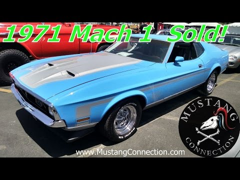 2015 Mustang Mach 1 >> Grabber Blue 1971 Mustang Mach 1 Sells At Russo And Steele Newport Beach 2015 Mustang Connection