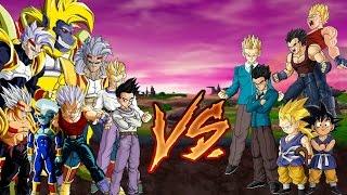 DBZ BT3 MOD Teen Baby (all form) & Goten GT VS Gohan GT & Vegeta GT & Goku GT