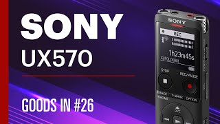 Sony ICD-UX570 Dictaphone - Unboxing & Walkthrough - Part 1 screenshot 1