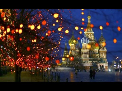 christmas lighting at moscow russia christmas decorations