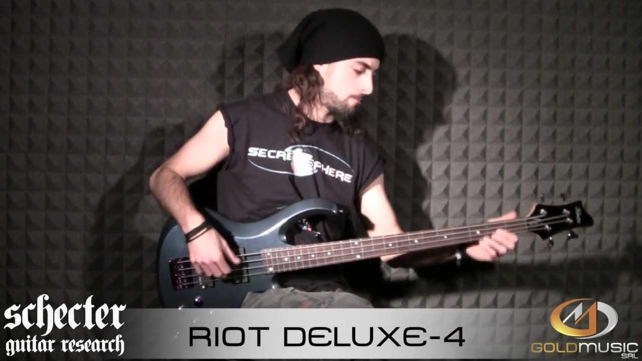 schecter riot deluxe 4 demo by luca negro youtube. Black Bedroom Furniture Sets. Home Design Ideas
