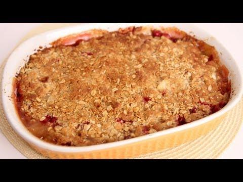 Ginger Pear & Cranberry Crisp Recipe Laura Vitale Laura in the Kitchen Episode 498