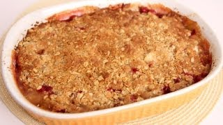 Ginger Pear & Cranberry Crisp Recipe - Laura Vitale - Laura In The Kitchen Episode 498
