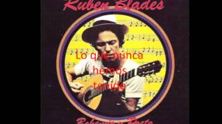 Rubén Blades - Amor y control con letra