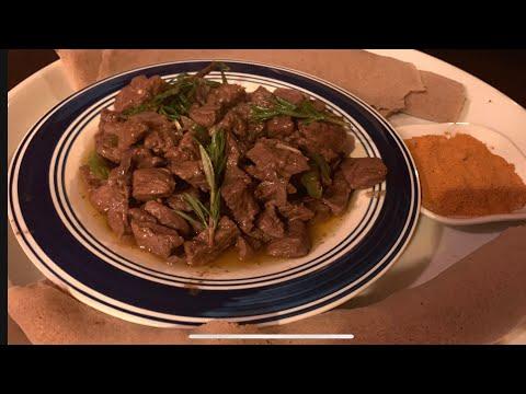Ethiopian food  Beef  Tibs   ቆንጆ  ጥብስ አሰራር