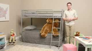 Chicago Bunk Bed Twin Over Twin - Silver
