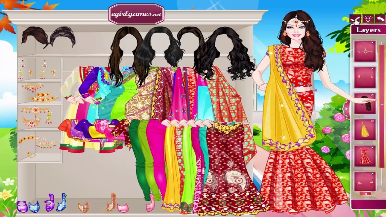 Indian Traditional Costume Design Game - dressupgames.com
