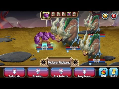 Monster Legends - Worker Hulk level 1 to 130 combat PVP review :V