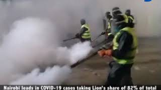 Sonko rescue team fumigates Embakasi sub-county, Molem ward an the larger Umoja area