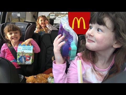 McDonald's Drive Thru Kids Happy Meal Toy made my LITTLE SISTER feel better !
