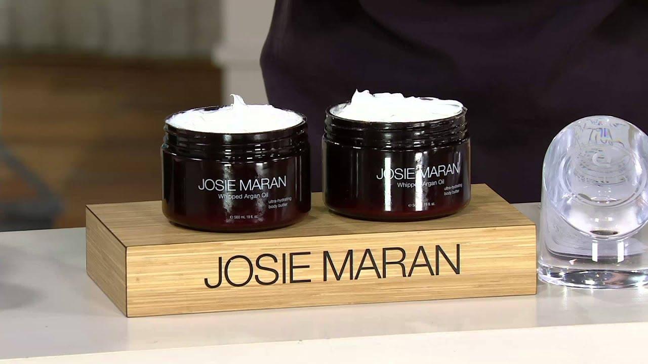 josie maran argan oil super size 19oz whipped body butter on qvc youtube. Black Bedroom Furniture Sets. Home Design Ideas