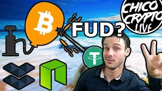 FUD Storm 😱😱 Why is BTC Dropping? $DERO Green in Red Market $ELA $NEO Chico Live
